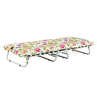 Кровать на ламелях Ø 25мм Бязь Цветы (Vitan ТМ)