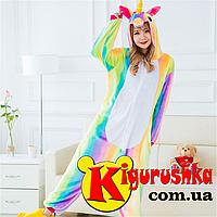 Костюм пижама Единорог Яркая радуга кигуруми