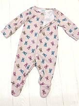 """Человечек для новорожденого """"Мишки-печенечки на розовом"""""""