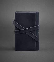 Блокнот кожаный, софт-бук синий 120 листов (ручная работа)