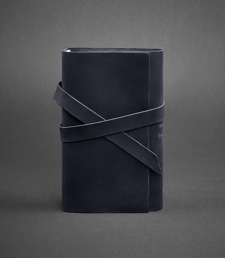 Блокнот кожаный, софт-бук синий 120 листов (ручная работа), фото 1