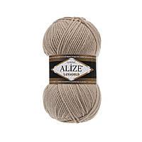 Пряжа для вязания Alize Lanagold 05 беж (Ализе Лана голд)