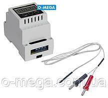 Терморегулятор цифровой термопарный PLAST (+4°C...+1350°C) с термопарой TP-01 K-типа 1 метр (-50...+400°C)
