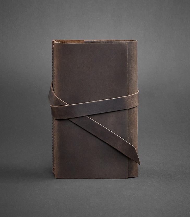 Блокнот кожаный, софт-бук кофе 120 листов (ручная работа)