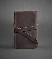 Блокнот кожаный, софт-бук кофе 120 листов (ручная работа), фото 1
