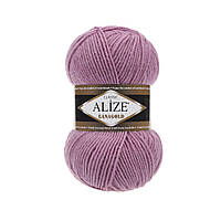 Пряжа для вязания Alize Lanagold 28 роза (Ализе Лана голд)