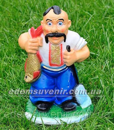 Садовая фигура Козак рыбак малый, фото 2
