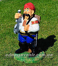 Садовая фигура Козак охотник, фото 2