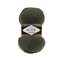 Пряжа для вязания Alize Lanagold 29 хаки (Ализе Лана голд)