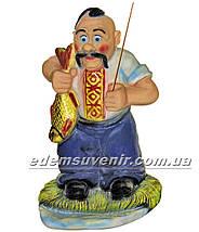 Садовая фигура Козак рыбак, фото 2