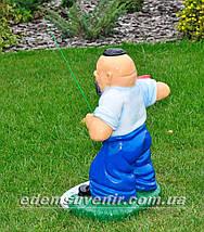 Садовая фигура Козак рыбак, фото 3