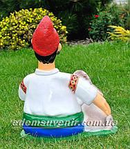 Садовая фигура Козак с пивом, фото 3