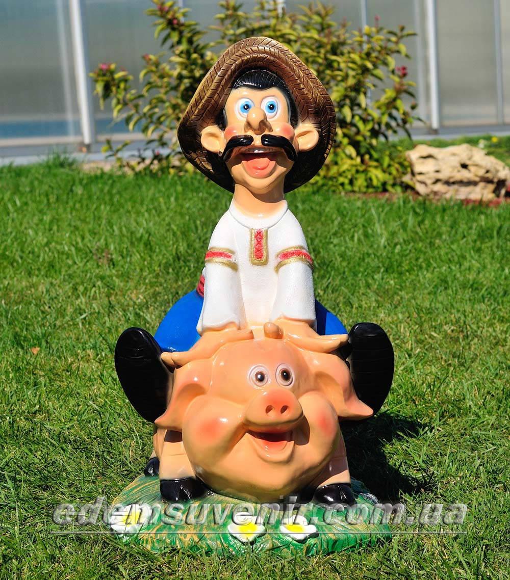 Садовая фигура Свинопас