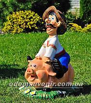 Садовая фигура Свинопас, фото 2