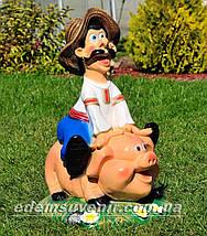 Садовая фигура Свинопас, фото 3