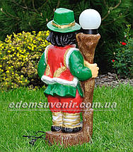 Садовая фигура Гуцул у фонаря, фото 3
