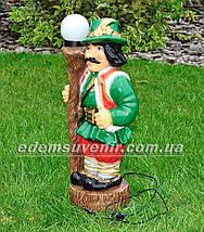 Садовая фигура Гуцул у фонаря, фото 2