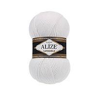 Пряжа для вязания Alize Lanagold 55 белый (Ализе Лана голд)