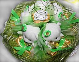 Букет из игрушек весенние Мишки М-103