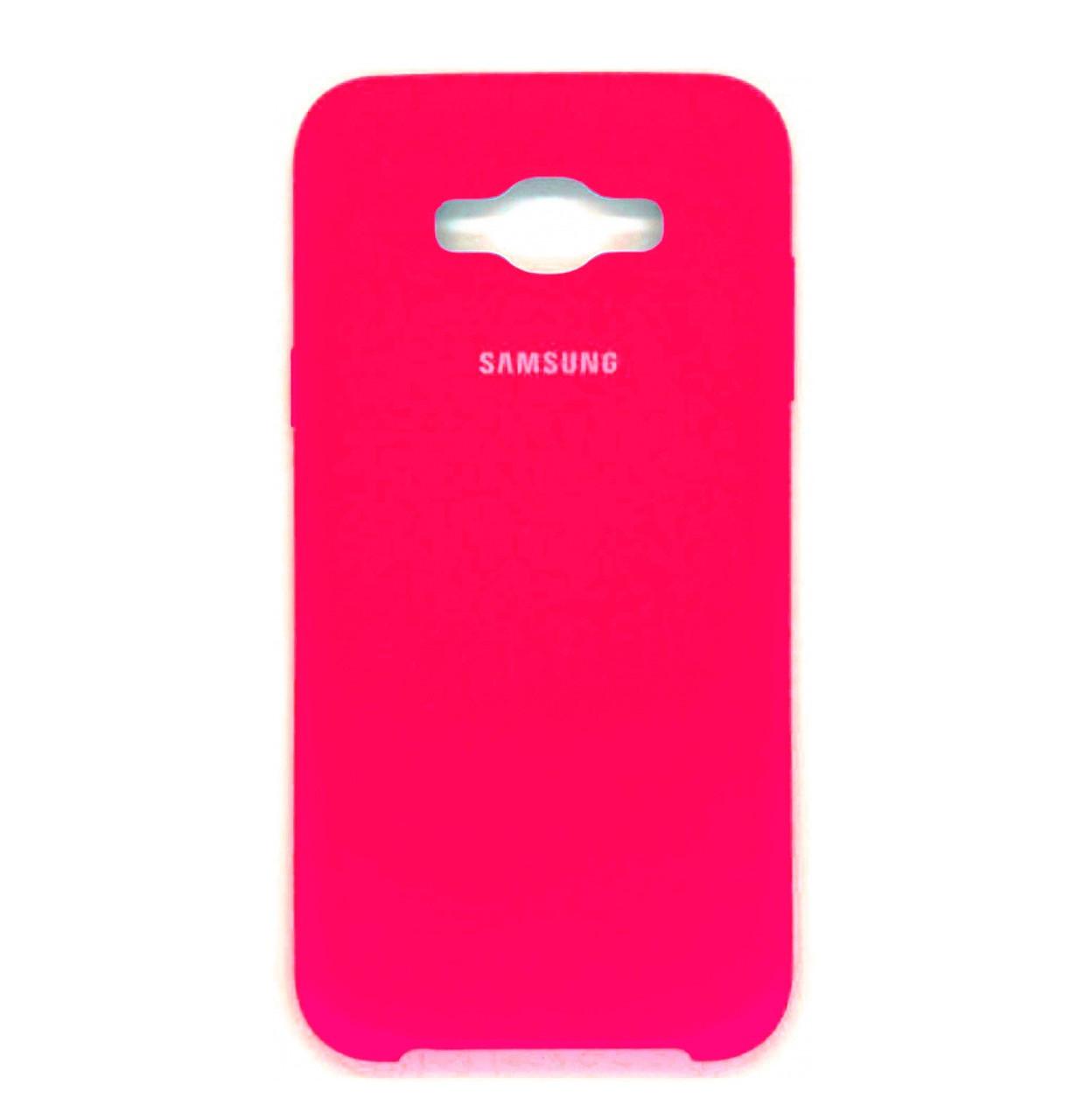 Чехол-накладка Original Silicone case на Samsung Galaxy J5 (2016) SM-J510H Crimson