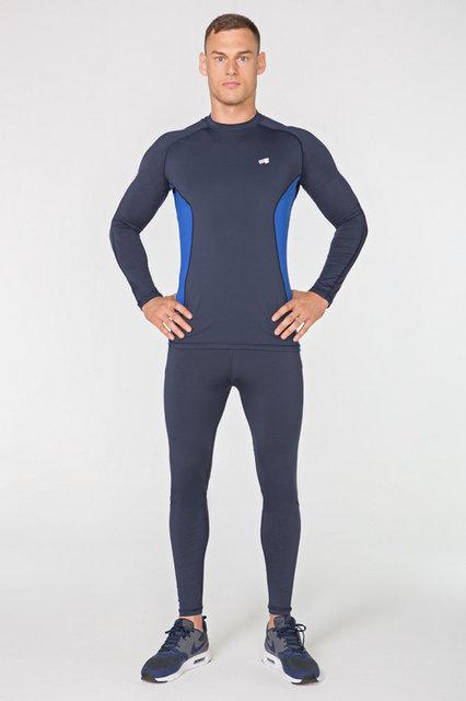 Мужской спортивный костюм для бега Radical Intensive, компрессионная спортивная одежда, тайтсы+рашгард