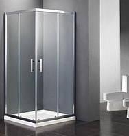 Душевая кабина Dusel А-513, 900х900х1900 двери раздвижные, стекло прозрачное