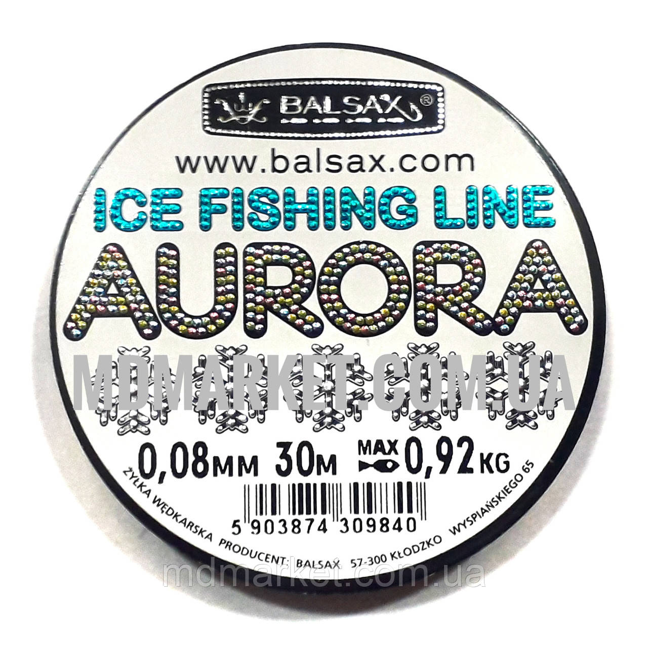 Леска Balsax Aurora 30м 0.08мм 0,92кг