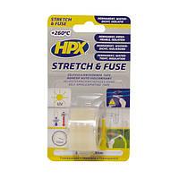 HPX Stretch&Fuse - силиконовая вулканизирующая лента для изоляции и герметизации электрокоммуникаций -  0,8м - прозрачная