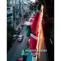 Декоративная фигура Дед Мороз на светящейся лестнице LED гирлянде 60 см