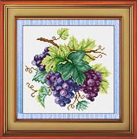 Набор рисования камнями на холсте Виноград TK022 (26.5x26см)