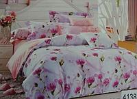 Сатиновое постельное белье евро ELWAY 4138