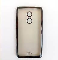 Силиконовый чехол Utty Electroplating TPU для Xiaomi Redmi Note 4 (MTK) Black