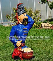 Садовая фигура Козак с варениками, фото 3