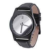 Наручные часы на кожаном ремешке Mirror черные (4100341), фото 1