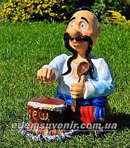 Садовая фигура Козак с борщом, фото 2