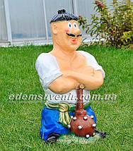 Садовая фигура Козак с булавой, фото 3