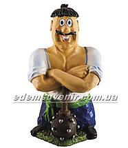 Садовая фигура Козак с булавой, фото 2