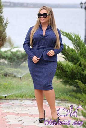 Женский теплый батальный костюм пиджак + юбка (р. 48-90) арт. Комплимент, фото 2
