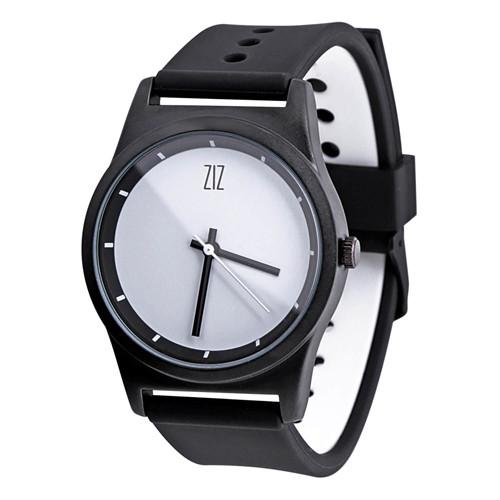 Наручные часы на силиконовом ремешке White черные (4100244)