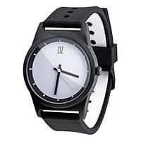 Наручные часы на силиконовом ремешке White черные (4100244), фото 1