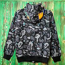 Худи Bape Shark Full Zip Black/Gray/Blue, фото 3