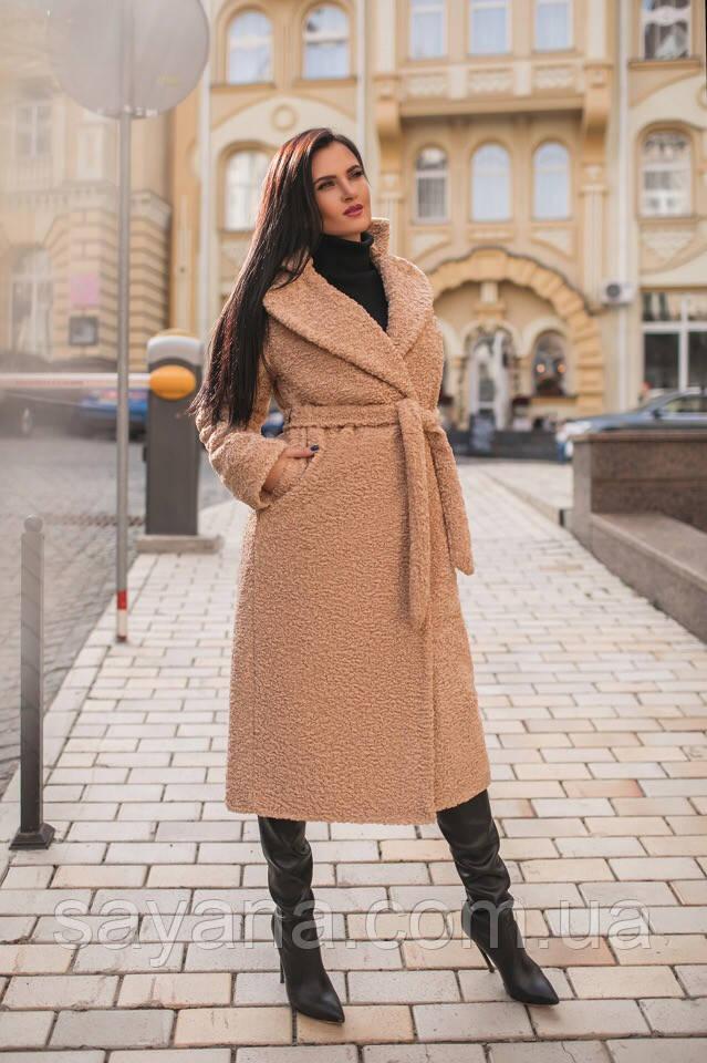 Женская шуба-пальто из искусственного меха в расцветках. МА-6-1118