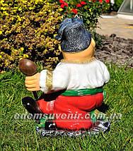 Садовая фигура Козак с ложкой, фото 3