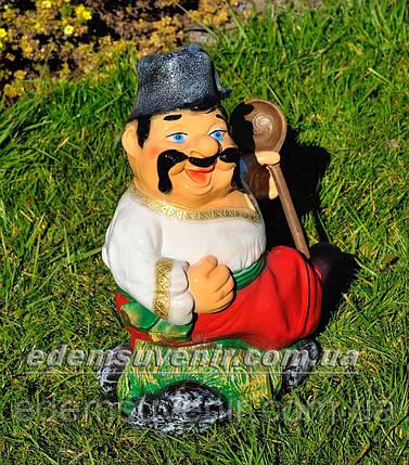 Садовая фигура Козак с ложкой, фото 2