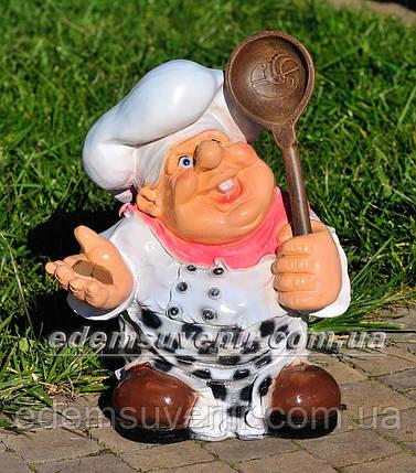 Садовая фигура Повар веселый, фото 2