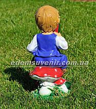 Садовая фигура Мальчик с арбузом, фото 3