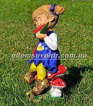 Садовая фигура Девочка с арбузом, фото 2