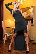 Платье хвост трикотаж с кружевом, фото 2