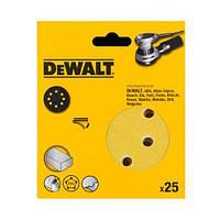 Шлифшкурка самоклеющаяся DeWALT, d=125мм, зерно  40,  для эксцентриковых шлифмашин DW423/ES55, 25шт., шт