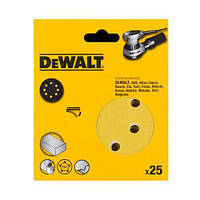 Шлифшкурка самоклеющаяся DeWALT, d=125мм, зерно  80,  для эксцентриковых шлифмашин DW423/ES55, 25шт., шт